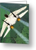 Fighter Jets Greeting Cards - Beware the Dove Greeting Card by Dieter Carlton