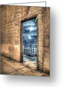 Underground Greeting Cards - Beyond the door Greeting Card by Scott Norris