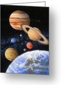 Airbrush Greeting Cards - Beyond the Home Planet Greeting Card by Lynette Cook