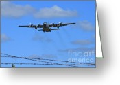 C130 Greeting Cards - Beyond The Wire Greeting Card by Rick  Monyahan