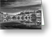Christianity Photo Greeting Cards - Beziers Cathedral Greeting Card by Photograph by Paul Atkinson