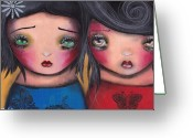 Eyed Greeting Cards - Bff Greeting Card by  Abril Andrade Griffith