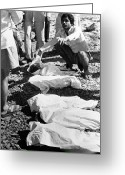 Distraught Greeting Cards - Bhopal Disaster Victims, India, 1984 Greeting Card by Ria Novosti
