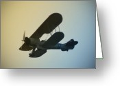 Bi Plane Greeting Cards - Bi-Plane Greeting Card by Bill Cannon
