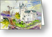 French Art Drawings Greeting Cards - Biarritz 01 Greeting Card by Miki De Goodaboom