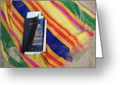 Beach Towel Photo Greeting Cards - Bible On Beach Towel Greeting Card by Roberto Westbrook