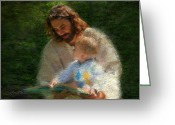 Reading Greeting Cards - Bible Stories Greeting Card by Greg Olsen