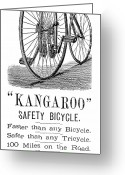 Penny Farthing Greeting Cards - Bicycle Ad, 1885 Greeting Card by Granger