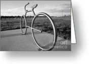 Bicycle Art Greeting Cards - Bicycle Bicycle Greeting Card by David Lee Thompson