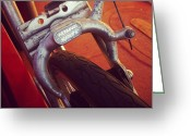Bicycle Greeting Cards - Bicycle brake Greeting Card by Joel Davison