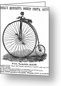 Penny Farthing Greeting Cards - Bicycle Camera Ad, 1887 Greeting Card by Granger