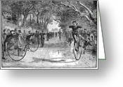 Germantown Photo Greeting Cards - Bicycle Club Race, 1880 Greeting Card by Granger