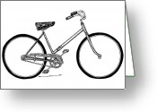 Bicycle Greeting Cards - Bicycle Greeting Card by Karl Addison