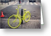 Bicycle Greeting Cards - Bicycle Greeting Card by Maciej  Liziniewicz