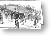 Penny Farthing Greeting Cards - Bicycle Meet, 1883 Greeting Card by Granger