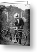 Antenna Greeting Cards - Bicycle Radio Antenna, 1914 Greeting Card by