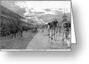 Penny Farthing Greeting Cards - Bicycle Tournament, 1886 Greeting Card by Granger
