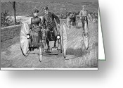 Penny Farthing Greeting Cards - Bicycling, 1886 Greeting Card by Granger