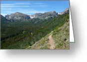 Rocky Mountain Prints Greeting Cards - Bierstadt Lake Tail Greeting Card by Debbie Poetsch