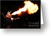 Pyrotechnics Greeting Cards - Big axe of fire Greeting Card by Agusti Pardo Rossello