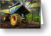 Truck Greeting Cards - Big Bad Dumper Truck Greeting Card by Meirion Matthias