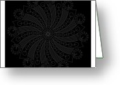 Carved Digital Art Greeting Cards - Big Bang Inverse Greeting Card by Dean Caminiti