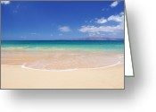 ; Maui Greeting Cards - Big Beach Greeting Card by Kelly Wade
