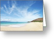 Pacific Islands Greeting Cards - Big Beach Greeting Card by Monica and Michael Sweet