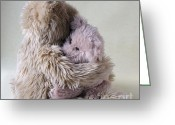 Consoling Greeting Cards - Big Bear Holds LIttle Bear Greeting Card by Ruby Hummersmith