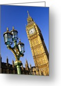 Big Ben Greeting Cards - Big Ben and Palace of Westminster Greeting Card by Elena Elisseeva