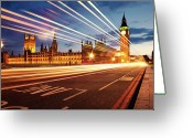 Big Ben Greeting Cards - Big Ben And The Houses Of Parliament. Greeting Card by Stuart Stevenson photography