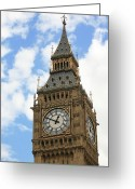 Clock Greeting Cards - Big Ben Greeting Card by Chris Dutton