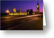 Long Street Greeting Cards - Big Ben Clock Tower, London, Uk Greeting Card by Stuart Dee
