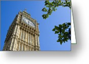James Barnes Greeting Cards - Big Ben Greeting Card by James Barnes