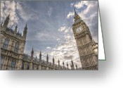 Photgraphy Greeting Cards - Big Ben Greeting Card by Lee-Anne Rafferty-Evans