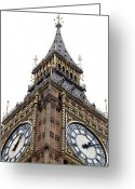 Big Ben Greeting Cards - Big Ben Greeting Card by Peter Funnell