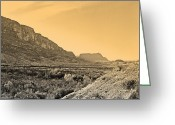 Mac Miller Greeting Cards - Big Bend Natinal Park at Sunset Greeting Card by M K  Miller