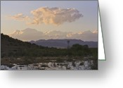 Flooding Greeting Cards - Big Bend Region After Rain Greeting Card by Jeremy Woodhouse