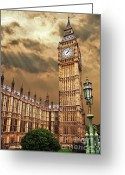 Big Ben Greeting Cards - Big Bens House Greeting Card by Meirion Matthias