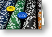 Betting Greeting Cards - Big Blind Little Blind Greeting Card by Ricky Barnard
