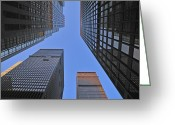 Mega Greeting Cards - Big City Greeting Card by Tony Beck