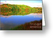 Webster County Greeting Cards - Big Ditch Lake West Virginia Greeting Card by Thomas R Fletcher