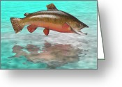 Sea Scape  Greeting Cards - Big Fish Greeting Card by Jerry McElroy