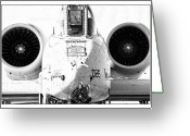 Jet Greeting Cards - Big Guns III Greeting Card by Ricky Barnard