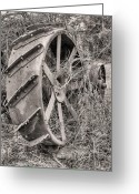 Fauquier County Greeting Cards - Big Iron Greeting Card by JC Findley