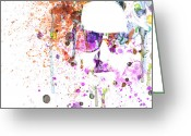Watercolor Painting Greeting Cards - Big Lebowski Greeting Card by Irina  March