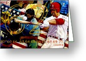 St.louis Cardinals Greeting Cards - Big Mac Greeting Card by Sean OConnor