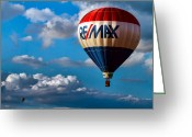 Above The Clouds Greeting Cards - Big Max RE MAX Greeting Card by Bob Orsillo