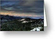Mountain Summit Greeting Cards - Big Mountain View Greeting Card by Dave Hampton Photography
