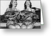 18-19 Years Greeting Cards - Big Mouth Billy Bass Greeting Card by Archive Photos